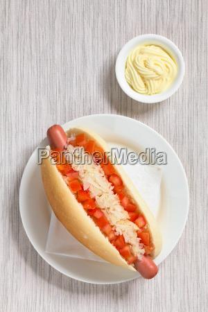 chilean completo hot dog