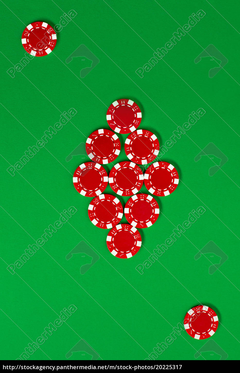 the, poker, chips, on, green, background - 20225317