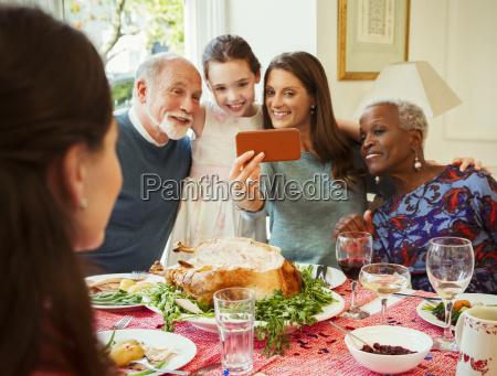 multi ethnic multi generation family with