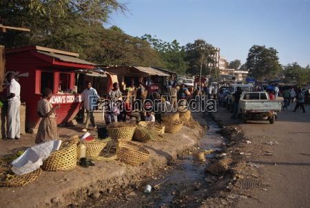 street scene mwanza tanzania east africa