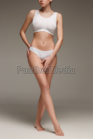 young slim healthy and beautiful woman