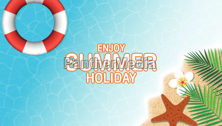 summer holiday background top view of