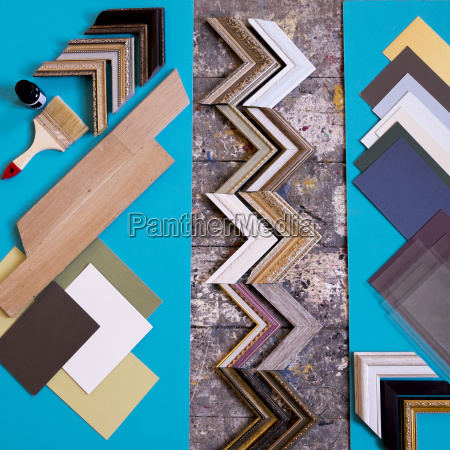 paintbrush and picture frame parts
