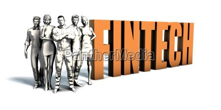 business people fintech art