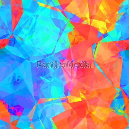 colorful watercolor gem pattern