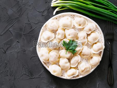 russian pelmeni ravioli dumplings with meat